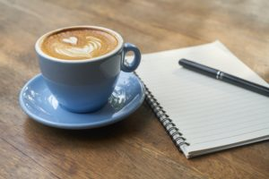 I set my daily goals over a cup of coffee every morning