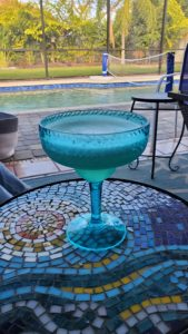 This is a picture of a margarita which you could be having on your vacation