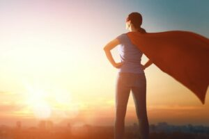 A picture of Superwoman