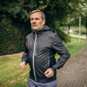 A picture of a gentle jogging to entice a woman on a dating site